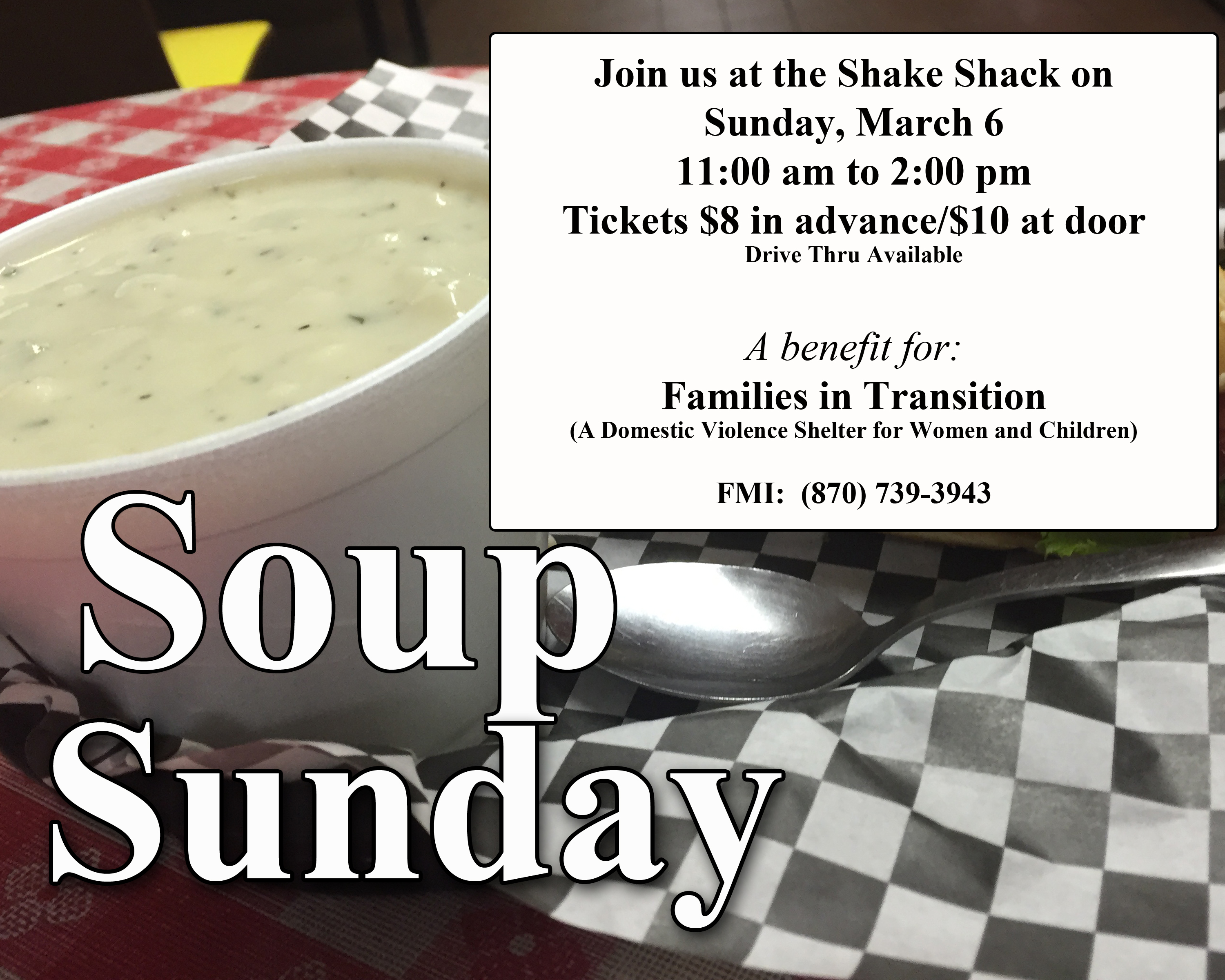 Soup Sunday Coming to the Shake Shack